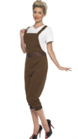 WW2 Land Army Girl Costume - Brown (43038)